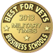 Best for Vets Business Schools 2013 Military times award badge