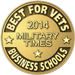 Best for Vets Business Schools 2014 Military times award badge