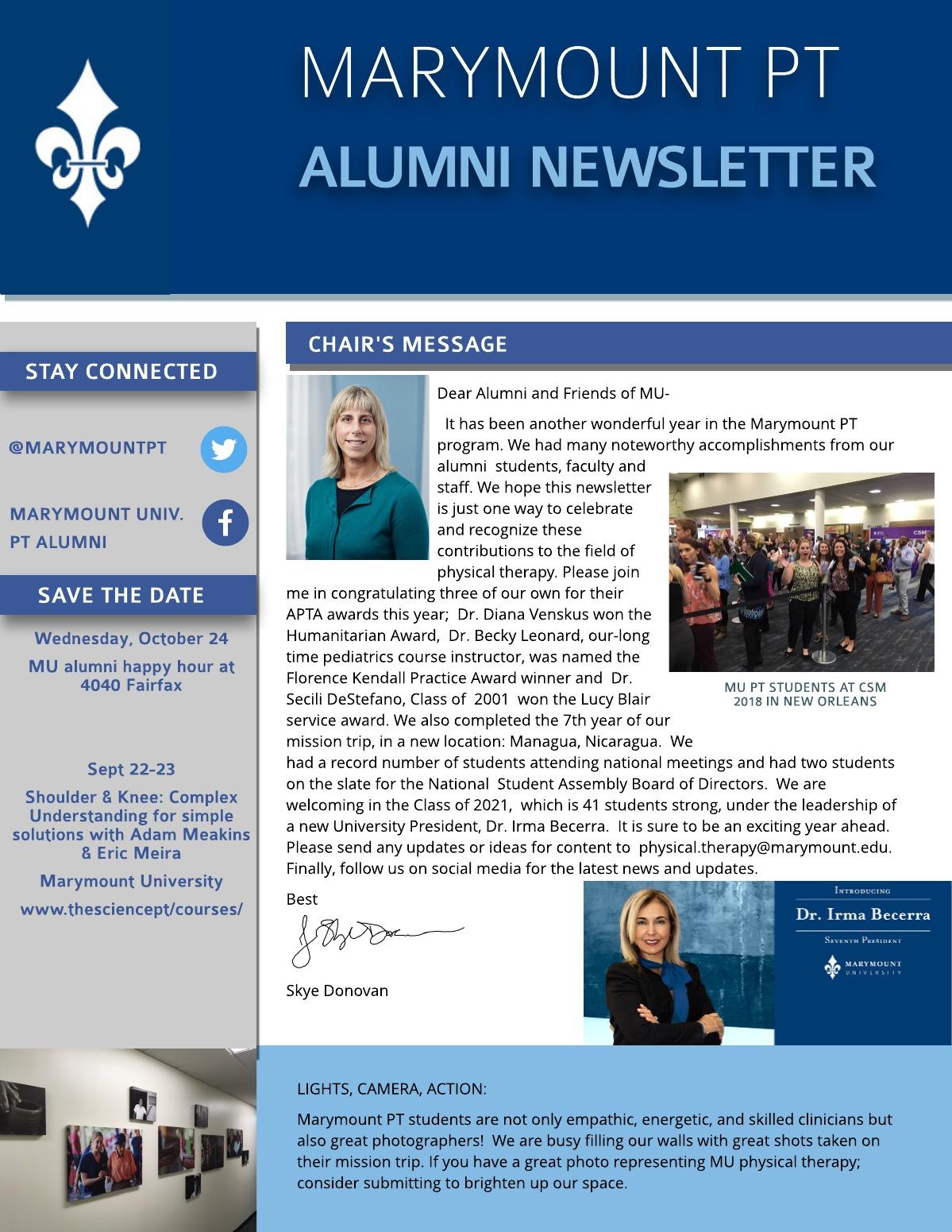 Alumni Newsletter Photo