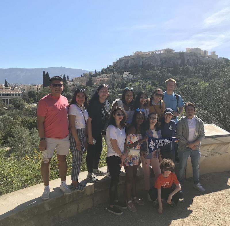 Marymount history students