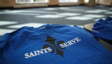Saints Serve T-shirt