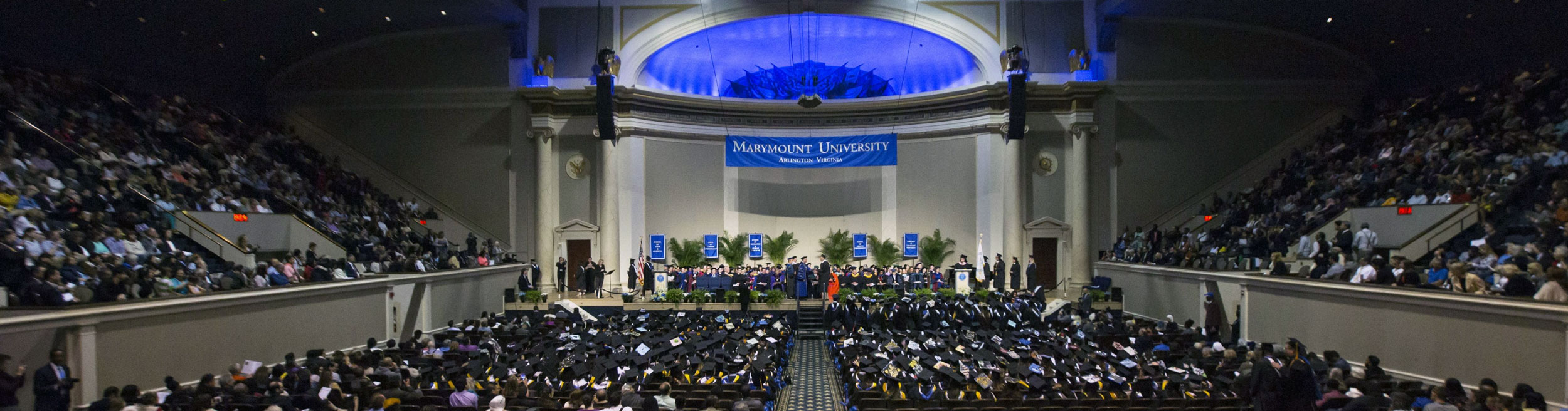 DAR Constitution Hall during 2018 Marymount University Commencement