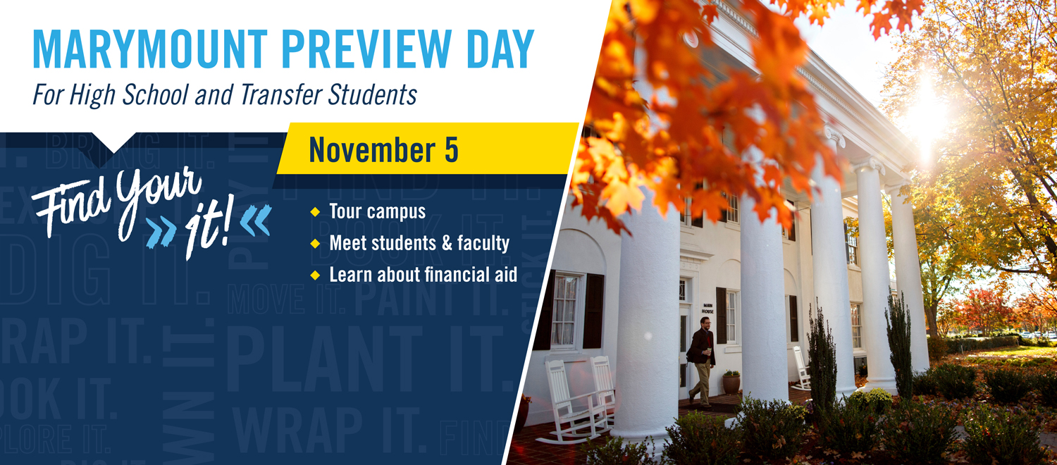 Marymount Preview Day November 5