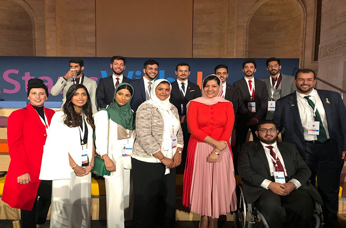 Ten members of Marymount's Saudi Students Association travel to Youth Forum in New York