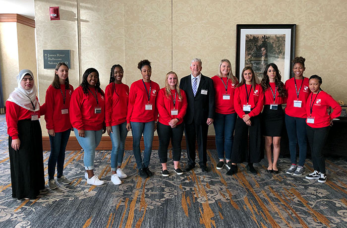 Marymount students attend 2019 Women's Leadership Development Summit in Richmond