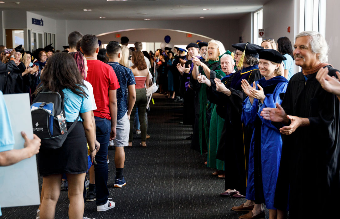 New students introduced to Marymount values, traditions at 2019 Convocation